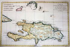 St Domingo; Rigobert Bonne / G. Raynal - Carte De L´Isle De St Domingue - 1780