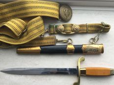 Russian Navy officer original bayonet/dagger with belt - Communist period 20th century