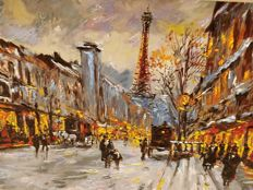 Michael Schofield( 1947-) - Winter in the City