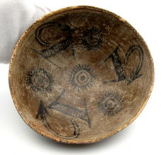 Indus Valley Painted Terracotta Bowl depicting Deer -  158 x 60 mm