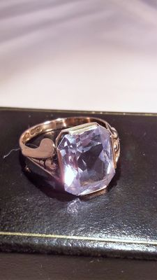 14K  gold ring set with light blue Spinel 6,0 ct ,  No reserve