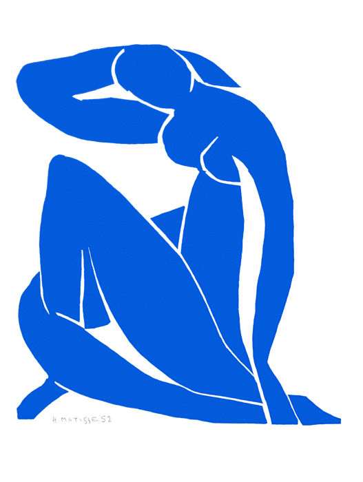 Henri Matisse (after) - Nu Bleu II (Blue Nude II)
