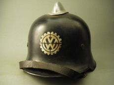Fire Department / Plant Protection VW works helmet WWII