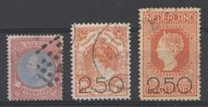 The Netherlands 1872/1920 - King Willem III and clearance emission - NVPH 29 + 104/105