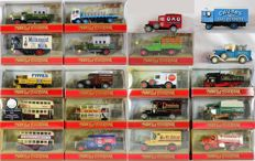 Matchbox - Scale 1/41-1/87 - Lot with 20 models - Y5 to Y62 - Merken Leyland, GMC, Preston, Morris, Ford, Mack, Foden, Garret, Albion & Mercedes