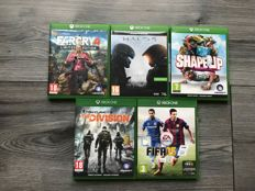 lots of Xbox one games, 5 piece