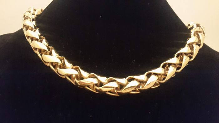 9d2de97fd66e8c Christian Dior gold plated heavy chain necklace 1970's - Catawiki