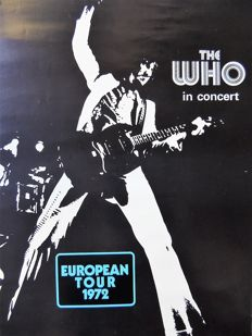 Psychedelic The Who 1972 European Tour Track International Promo Poster