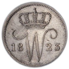 The Netherlands - 25 cents 1823 Brussels Willem I - silver
