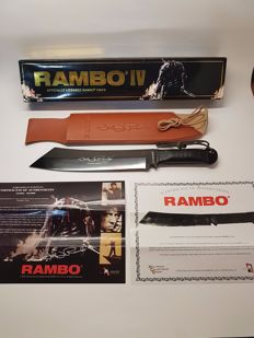 "Very Rare Official (the rarest version to find) John Rambo ""Signature Edition"" and ""Numbered Edition 12.295 / 20.000 "" Machete Knife - Rambo IV (made of 1060 high carbon steel )"