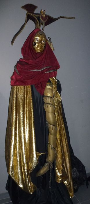 Electric automaton - Character in Venetian costume - 20th century