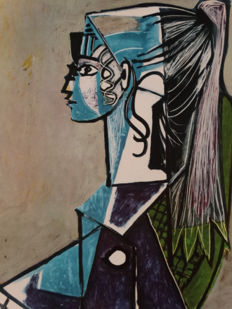 Pablo Picasso (after) - Portrait of Sylvette David