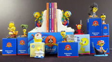 Looney Tunes - WB - Tweety bookends and ten other items from the Looney Tunes series - see description (1959/2001)