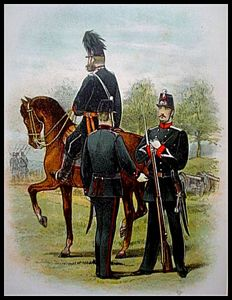 Uniforms; Lot with twenty chrome lithographs from 'Onze Krijgsmacht' - 1887
