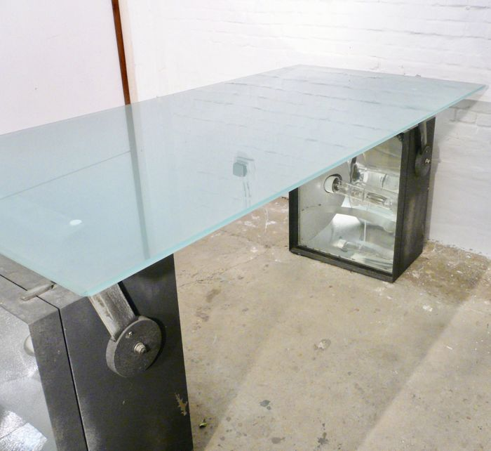 Two Industrial Light Boxes, To Be Used As