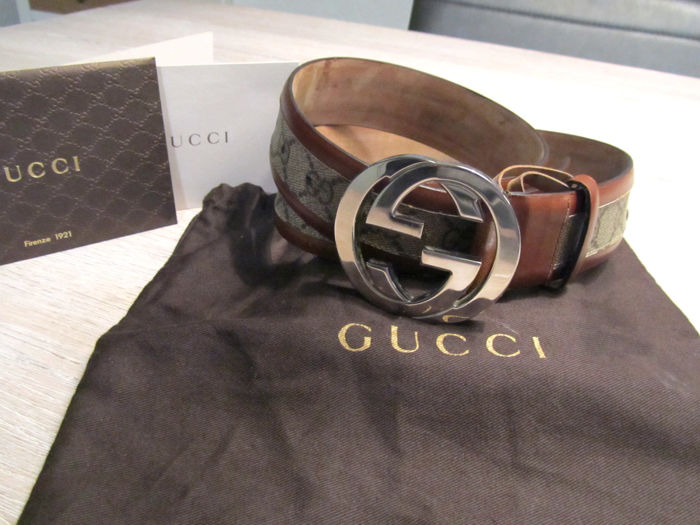b43b863d7b3 Gucci - GG Supreme belt - Catawiki