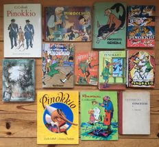 Pinocchio; Lot with 12 illustrated publications - 1948 / 1996