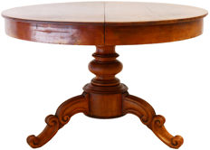 Biedermeier mahogany side wings table for 6 persons - The Netherlands - around 1860