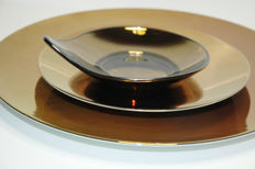 Rosenthal – porcelain glass plate set / 13 pieces. Studio line mirrored copper