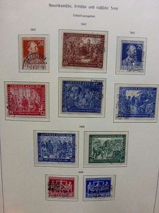 Germany - Federal Republic 1949/1995 - and allied occupation - cancelled collection in 4 albums