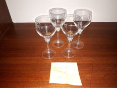 Rosenthal, crystal Studio Linie, 11 11 drinking glasses of various sizes