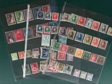 Belgium 1919/1934 - Composition with a.o. 1 Fr King with Helmet, Small Montenez and BIT - OBP 164/389