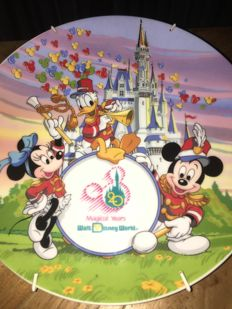 Walt Disney World - Plate - 20th anniversary - Strike up the band! with Mickey, Minnie and Donald (1991)