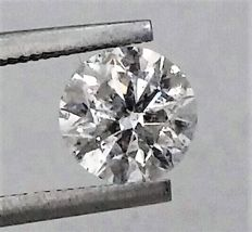 Round Brilliant Cut  - 1.37 carat - D color - SI1 clarity- Comes With AIG Certificate + Laser Inscription On Girdle- 3 x EX.
