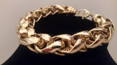 Christian Dior gold plated heavy chain bracelet 1970's
