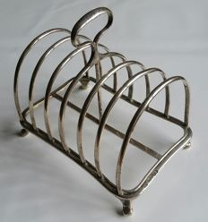 Silver french toast holder - England - London - 1865