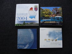 Luxembourg - Year packs 2003, 2004, 2014 + 25 Euro 2002 '50 Years European Court of Justice' silver