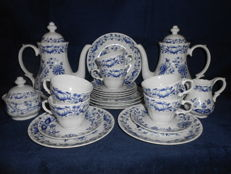 Wunsiedel Retsch, Blue Onion, Zwiebelmuster coffee-tee service 22 pieces and serving tray