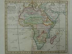 Africa; J.B. Elwé / D.M. Langeveld - New General Map of Africa according to the voyages of discovery of Capt. cook