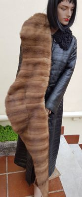 Very large mink fur scarf/wrap (made in Italy)