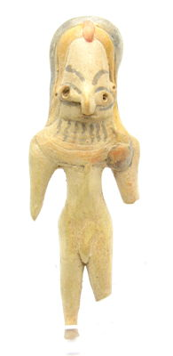 Indus Valley Terracotta Fertility Standing Male Idol  / Figurine  - 104 mm