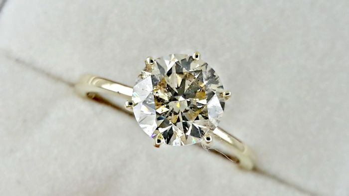Ring - Gold - Commonly treated - 2.21 ct - Diamond