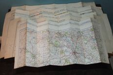 6 British WWII Military Ordnance Survey Maps 'War Revision' 1940 and 1941