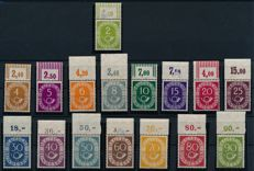 Federal Republic - 1949-1955 - collection with stamps from top edge includes post horn set, Michel 123-138
