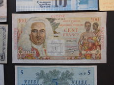 World - 32 Banknotes From Sweden, Denmark, Finland, Iceland and French Guiana