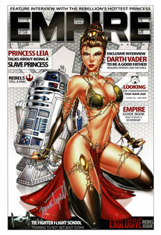 Signed Limited Edition Poster- Princess Leia and R2-D2 - EMPIRE Magazine Cover - Jamie Tyndall