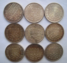 Japan - 1000 Yen 1964 'Olympic Games Tokyo' (9 pieces) - silver