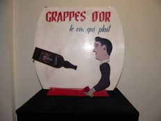 "Electric advertising automaton - Grappes d'or ""Le vin qui plaît"" - 20th century"