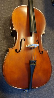New Menzel Antique Dark Brown 7 series - 4/4 adult size solid cello / Violoncello with case and bow