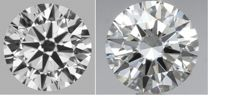 Pair of Round Brilliant  Diamond  1.00ct Total E-F VVS2, 3EX  Cert: GIA  #1863-2206