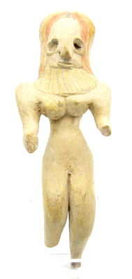 Indus Valley Terracotta Standing Female Idol  / Figurine  - 113mm