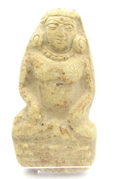 Indus Valley Terracotta Seated Goddess Fertility Idol  / Figurine  - 76 mm