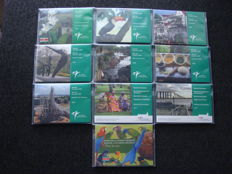 Suriname - Year pack 2004 to 2012 - Parrot set (10 pieces)
