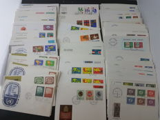 World - austria, united nations, switzerland and liechtenstein lot of 640 items of postal history, FDC collection