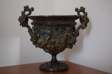 Pompeian Cup of copper with later silver plating - Grand Tour period - Italy - 19th century
