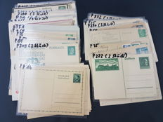 Germany -  1930`s/1940`s - WW2 era  Reich, batch 110 X, Cover stationery post letter card collection